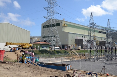 Construction work on the  new power stations. Photo Mats Hellmark