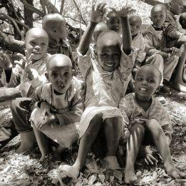 Children from the village. Photo Mats Hellmark